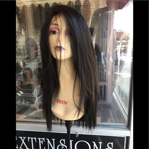 Accessories - Black Wig  Swisslace 13-6 Freepart Thick 2019 Wig